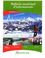 Bulletin municipal – décembre 2017